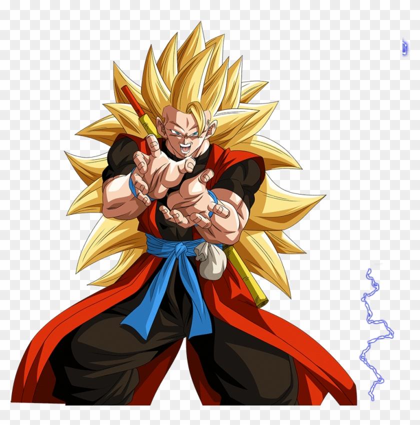 Fluffedited The Face Of One Of Ssj3 Xeno Goku's Closeups - Goku Clipart #4351490