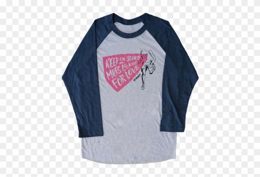 Running Baseball Tee - Long-sleeved T-shirt Clipart #4357026