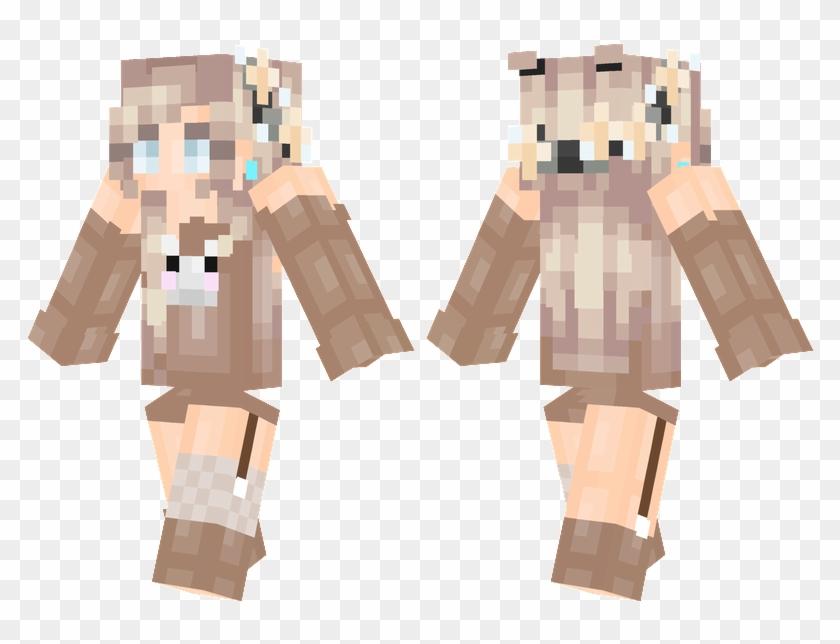 Flower Bunny Skins Minecraft, Minecraft Skins Female, - Girl Skin Flowers Minecraft Clipart #4360361
