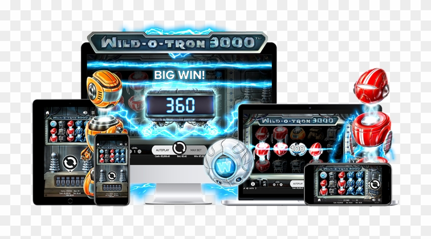 Netent Releases Super Sci Fi Slot Wild O Tron 3000tm - Slot Machine Clipart #4363751