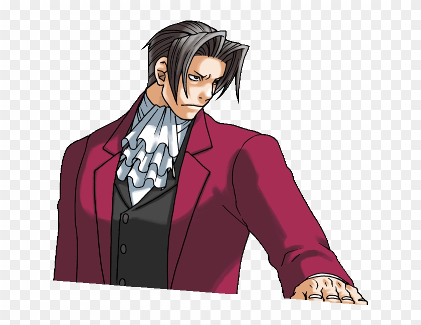 Lien Direct Ace Attorney Edgeworth Gif Clipart 4365283 Pikpng