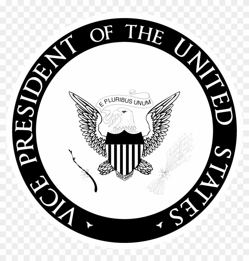 Us Vice President Seal Logo Black And White - Emblem Clipart #4389481