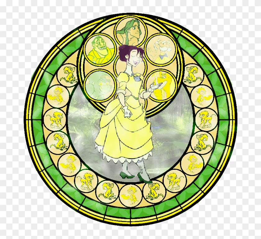Kingdom Hearts Heart Png - Kingdom Hearts Princess Stained Glass, Transparent Png #441069