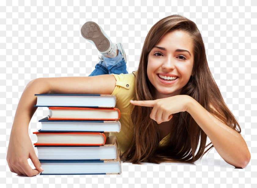 4315 X 3095 36 - Girl With Books Png Clipart #442252