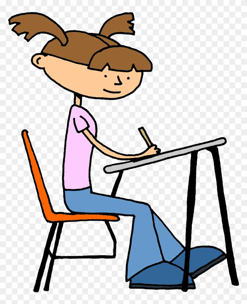 Png Test Taking Students Transparent Test Taking Students - Student Working Clipart #442473