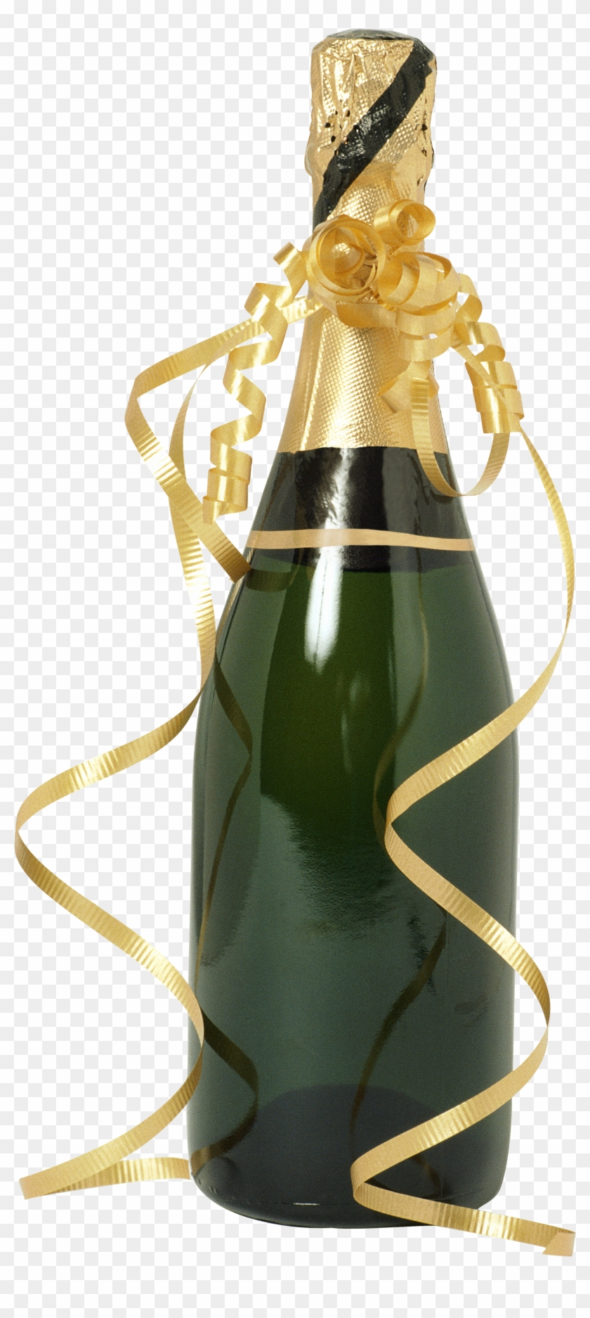Champagne Bottle - Champagne Bottle And Glasses Clipart #443380