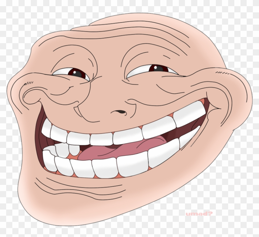 Colored Troll Face Png Clipart #443725