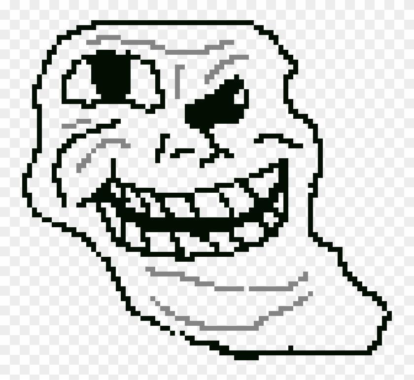 Troll Face - Pixel Art Troll Face Clipart #443836