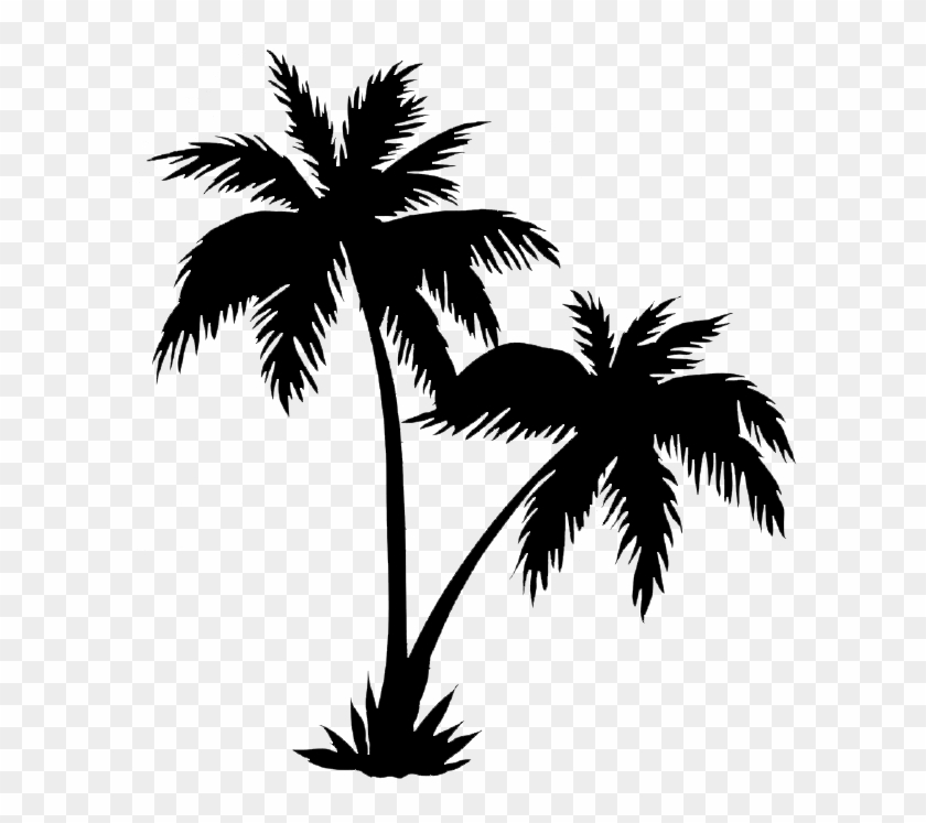 Palm Trees Png Black - Two Palm Tree Tattoo Clipart #446829