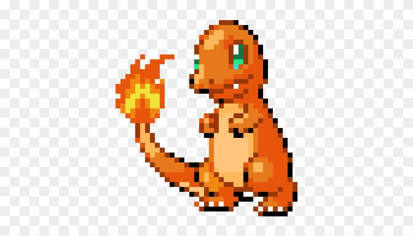 Charmander Pixel Art Pokemon Facile Hd Png Download