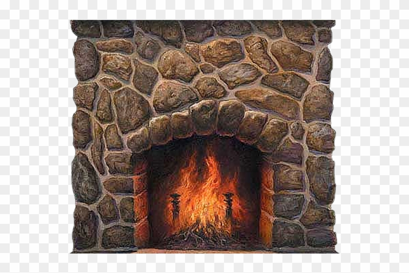 Png Royalty Free Stock Fireplace Fire Clipart - Transparent Fireplace Png #4412170