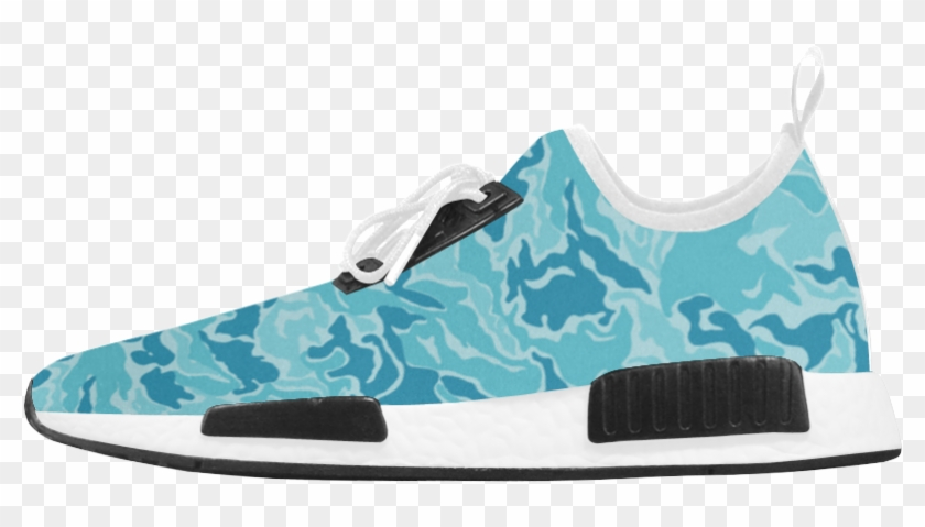 Camo Blue Camouflage Pattern Print Men's Draco Running - Basketball Shoe Clipart #4433478