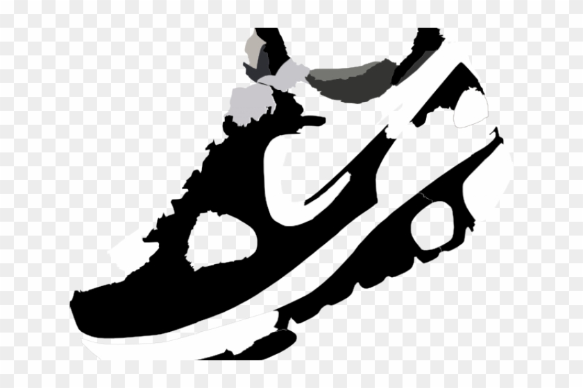 Running Shoes Clipart Sneaker Sole - Running Shoes Vector Png Transparent Png #4433915