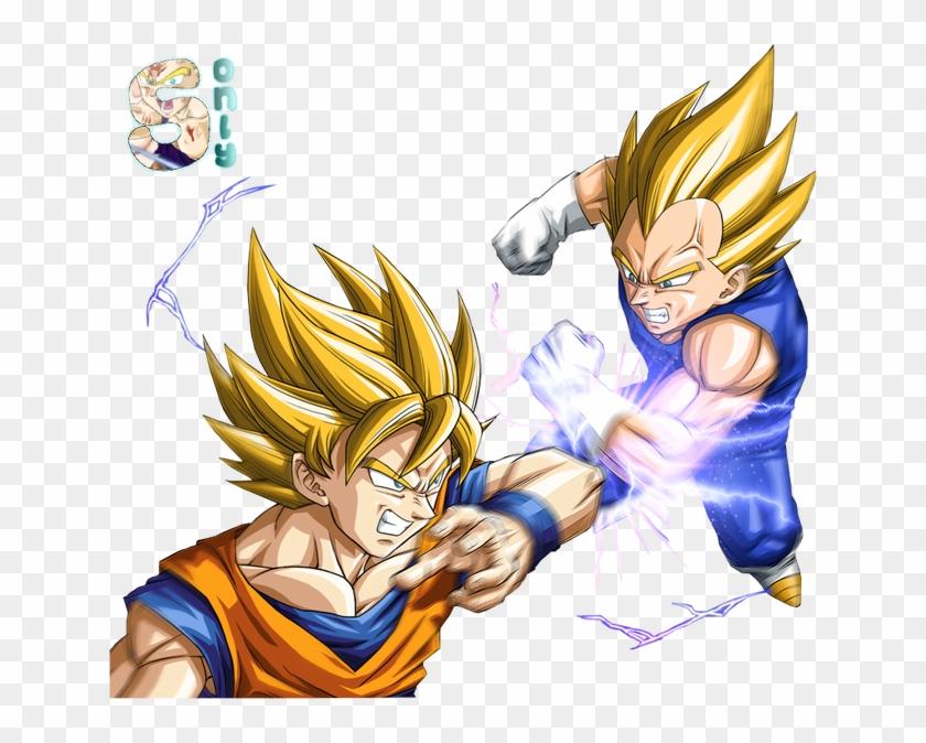 Goku Vs Vegeta Ssj - Dragon Ball Z Vegeta Vs Sangoku Clipart #4434475