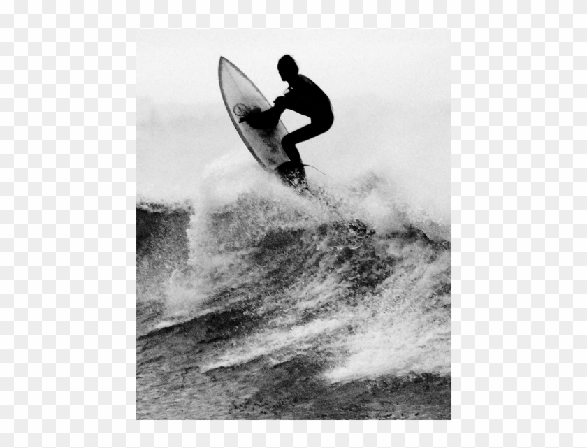 Surf's Up - Black And White Surf Decal Clipart@pikpng.com