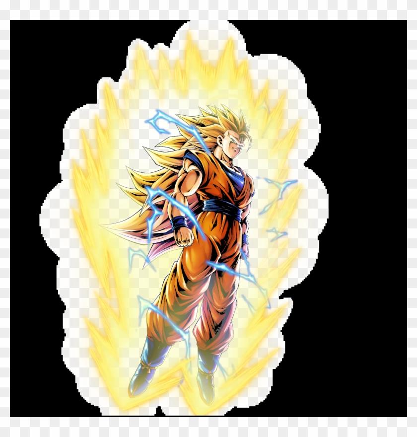 Teamgoku Ssj3 Aurora Amoled Wallpaper - Goku Ssj3 Clipart #4437758