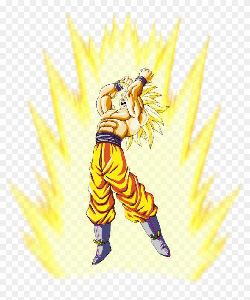 Goku Ssj3 Mid Transformation - Goku Ssj3 Clipart #4437819