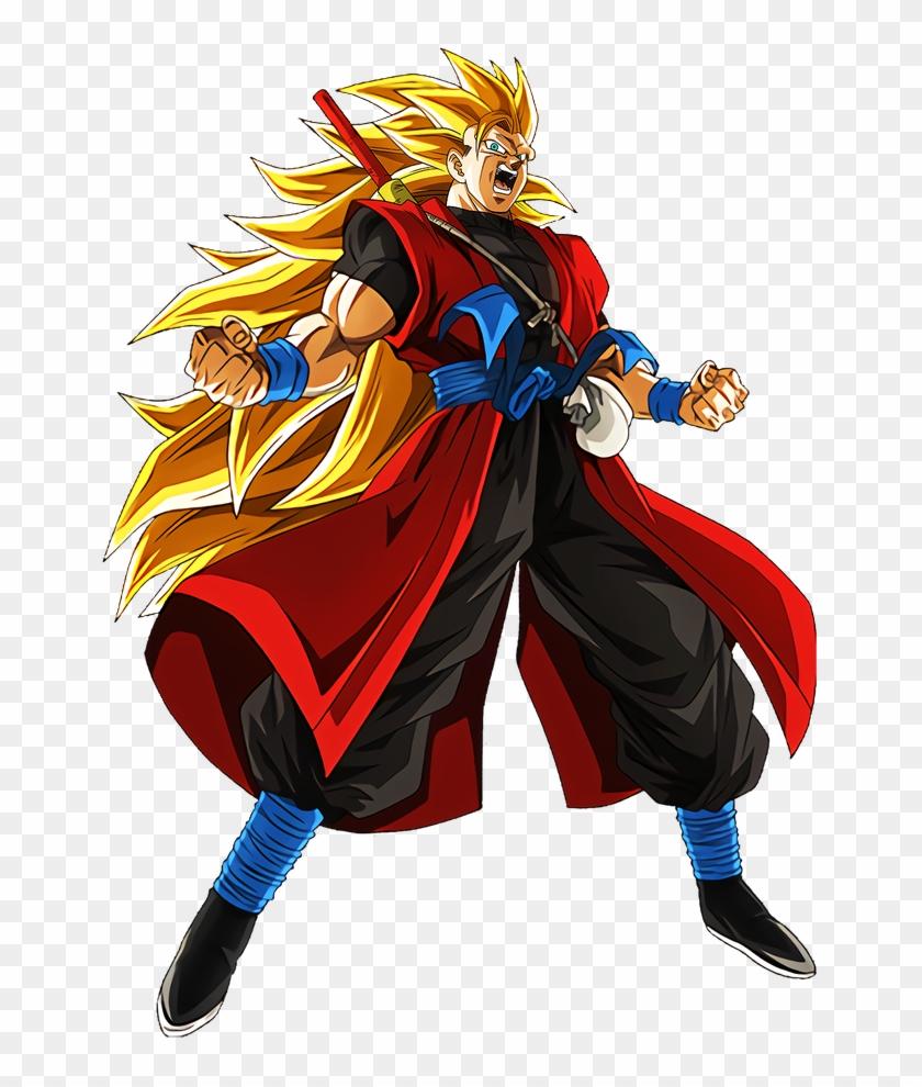 #dokkanbattle [another Dimension Super Warrior] Super - Super Saiyan 3 Xeno Goku Clipart #4437853