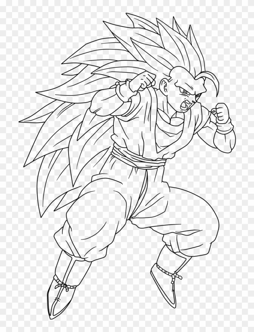 Image Royalty Free Library Ssj Goku Drawing At Getdrawings - Drawings Of Goku Ssj3 Clipart #4438576
