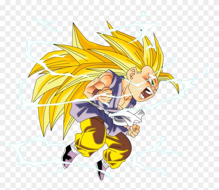 Dragon Ball Kid Goku Ssj3 - Dragon Ball Gt Goku Ssj3 Png Clipart #4438790
