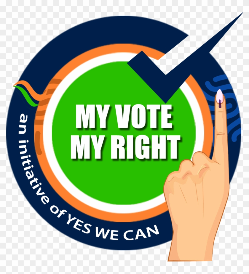 My Vote My Rights Final - Election 2019 Voting Awareness Clipart #4471359