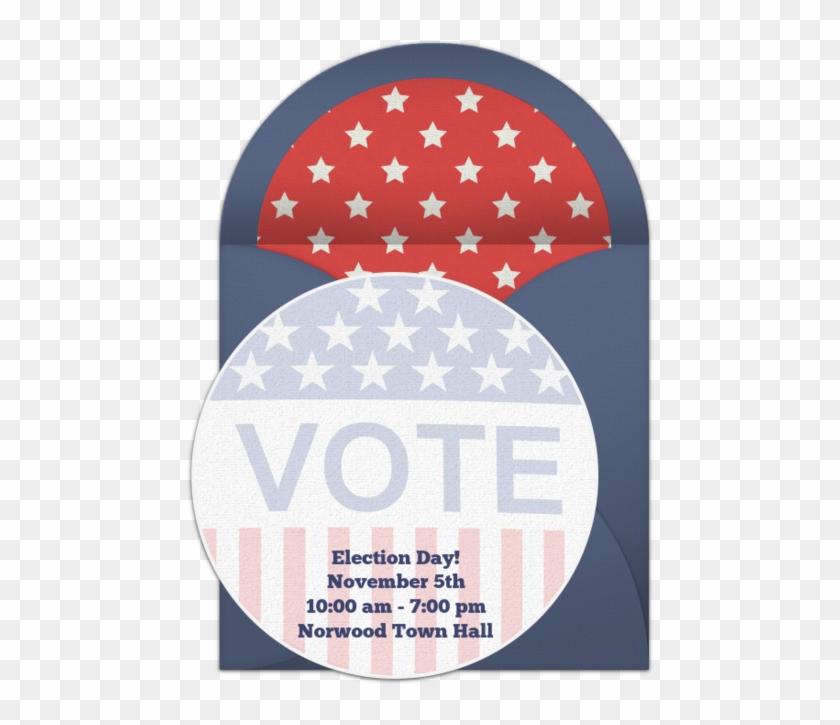 Your Vote Counts Online Invitation - Kitty Election Theme Invitation Matter Clipart #4471768
