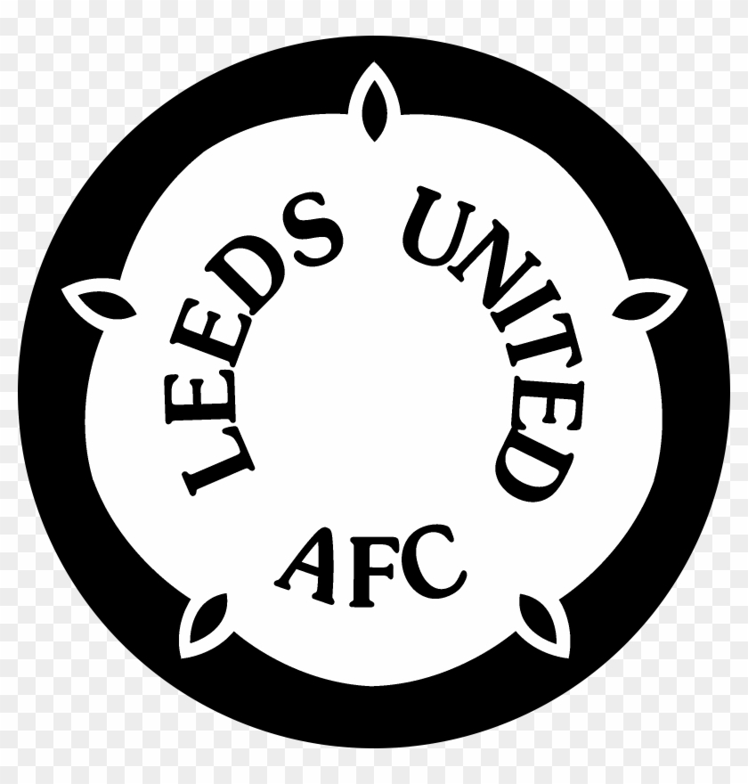 Leeds Logo Black And White Leeds United Screen Saver Clipart 4480051 Pikpng