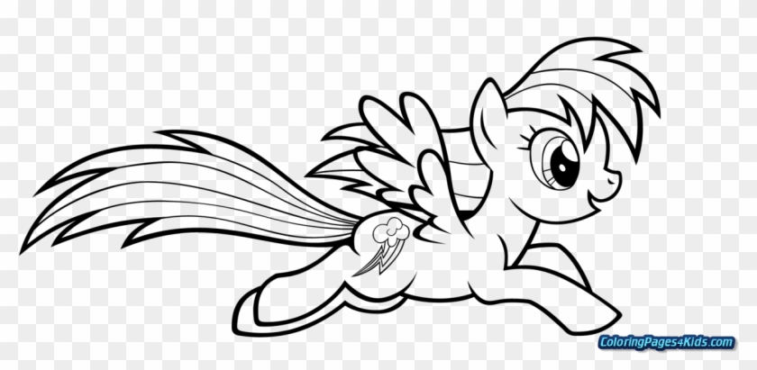 My Little Pony Coloring Pages Applejack And Rainbow Rainbow Dash Coloring Page Clipart 4489002 Pikpng