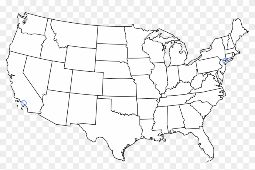 Us Map No Background 8716423   Blank Us Map Transparent Background Clipart (#4489232