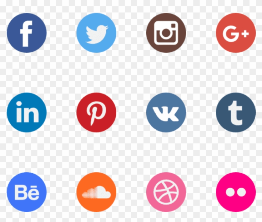 Free Png Download Watercolour Social Media Icons Png - Vector Transparent Background Social Media Icons Clipart #450453