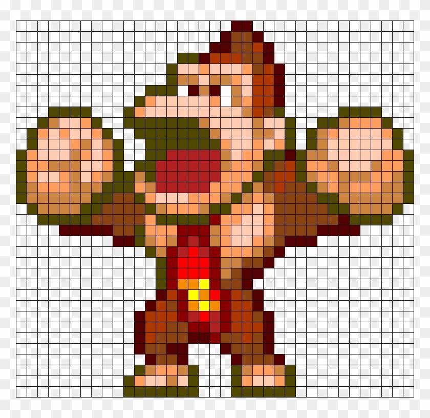 Donkey Kong Perler Bead Pattern Bead Sprite Pixel Art