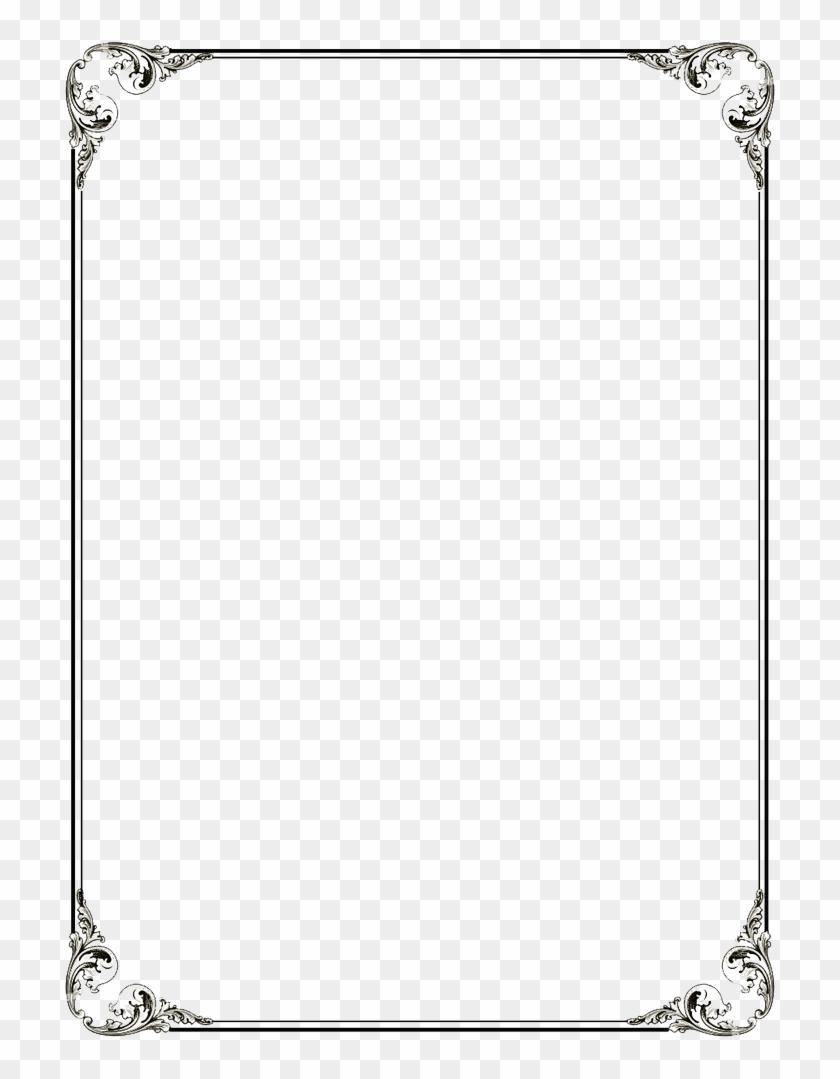 Black Border Frame Png File - Page Border Png File Clipart #455693