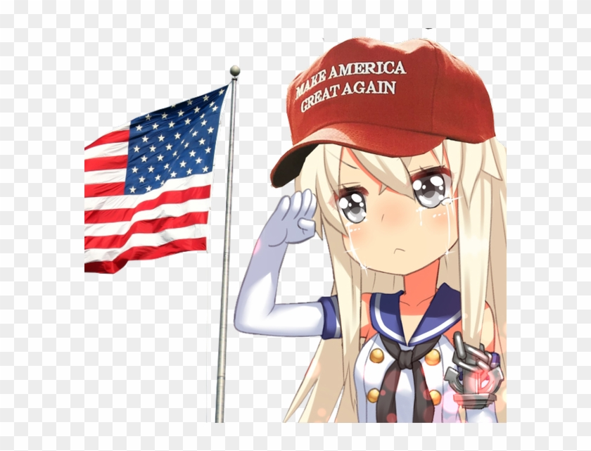 Anime For Trump On Twitter - United States Anime Girl Clipart #457826