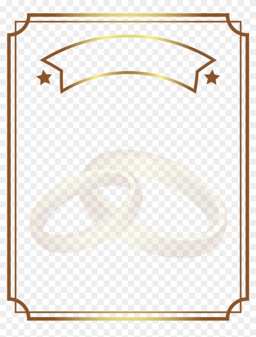 Diploma Gold Wedding Rings - Transparent Wedding Frame Gold, HD Png Download #458039