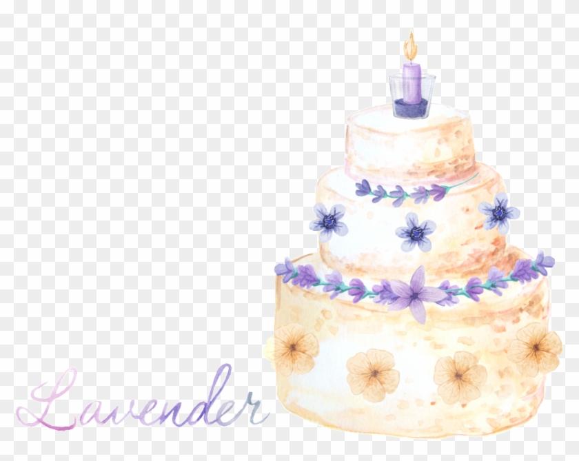 Beautiful Birthday Cake Transparent Decorative - Birthday Cake Clipart #4502076