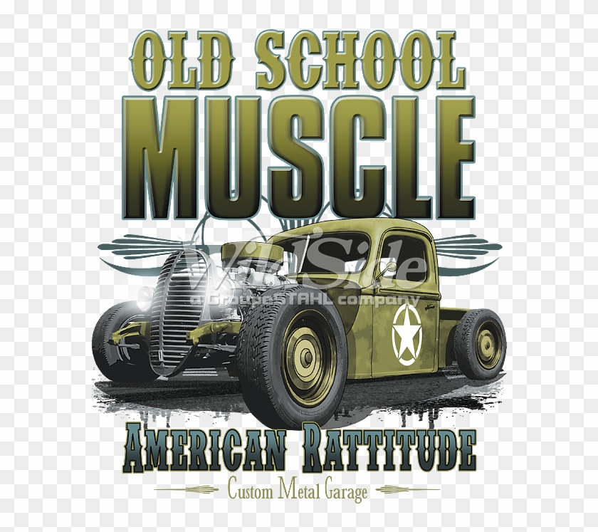 Old School Muscle American Rattitude - Vintage Car Clipart #4505210