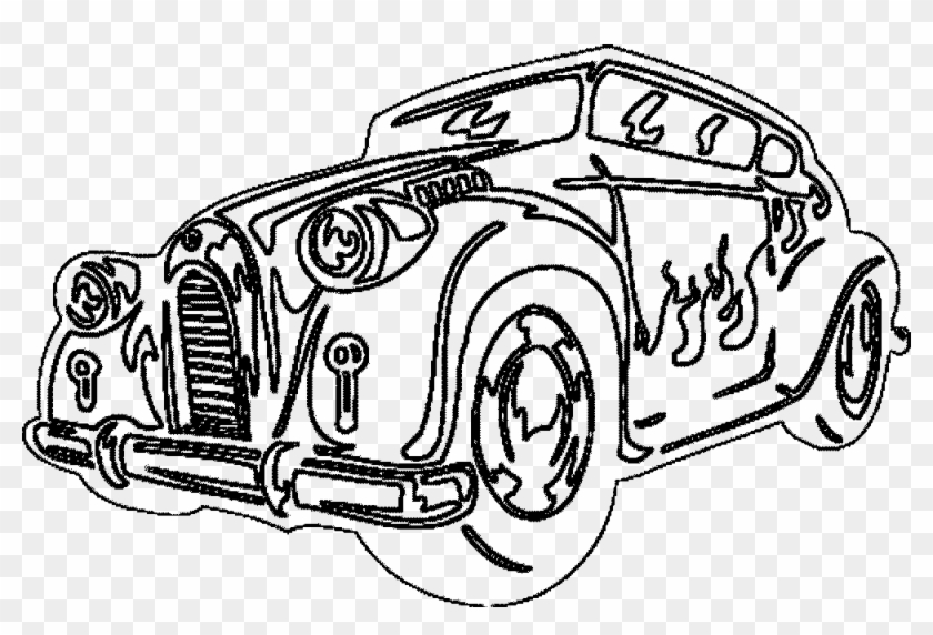 - Classic Car Coloring Pages - Coloring Pages Of Cool Cars Clipart (#4505568)  - PikPng