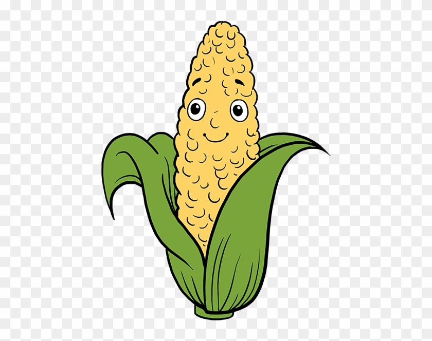 Corn On The Cob Png - Corn Draw Clipart #4506209