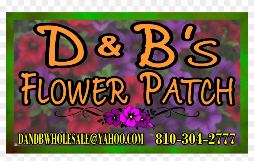 D&b's Flower Patch Business Cards - Poster Clipart #4508380