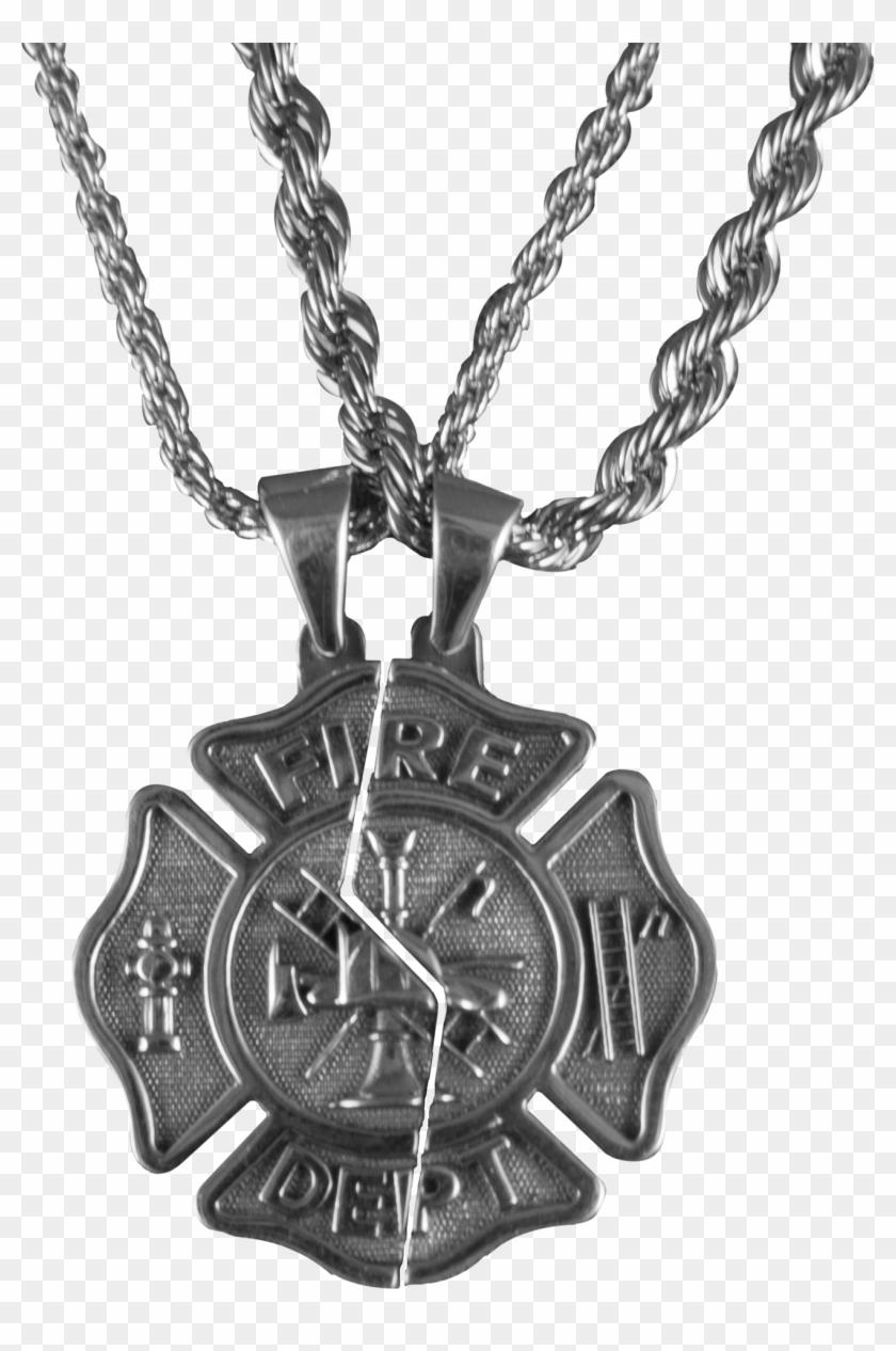 Firefighter Maltese Cross Necklace