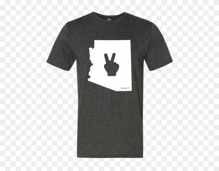 Arizona Peace Sign T - Active Shirt Clipart #4534427