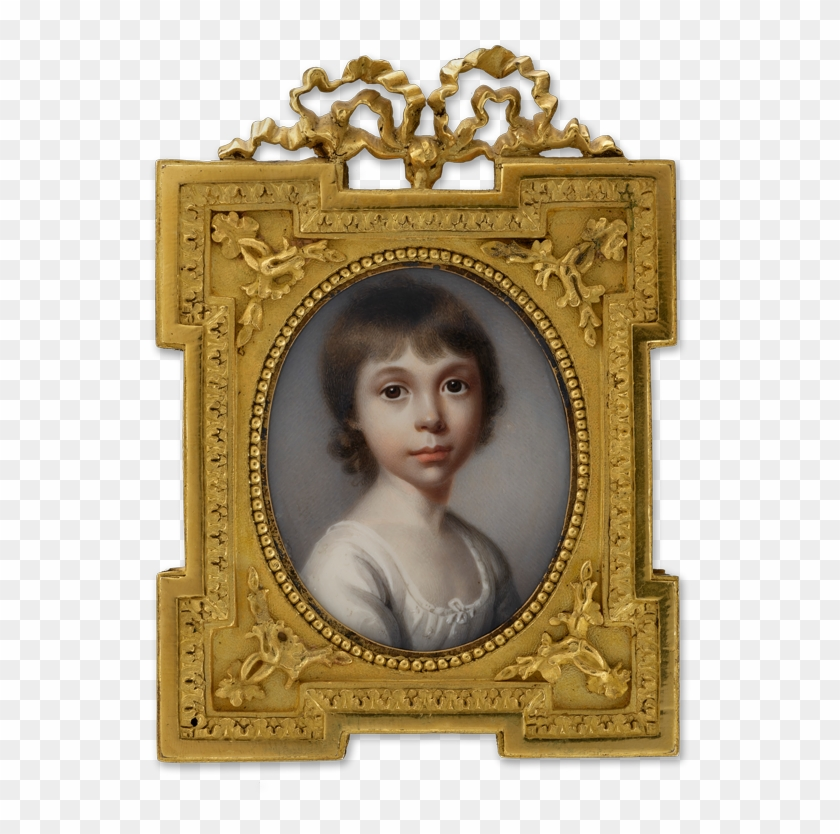 A Portrait Miniature Of A Young Girl, Wearing White - Picture Frame Clipart #4537627