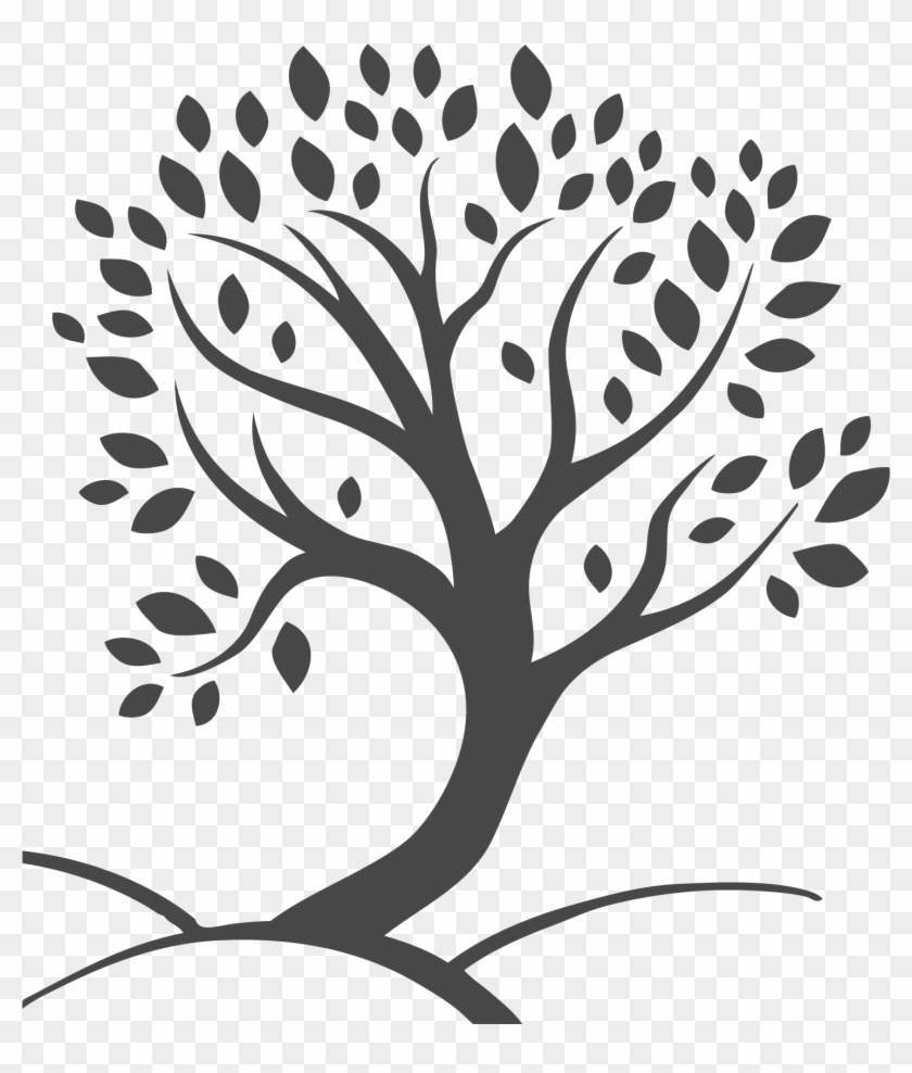 Team Member Tree - Black And White Tree Png Hd Clipart@pikpng.com