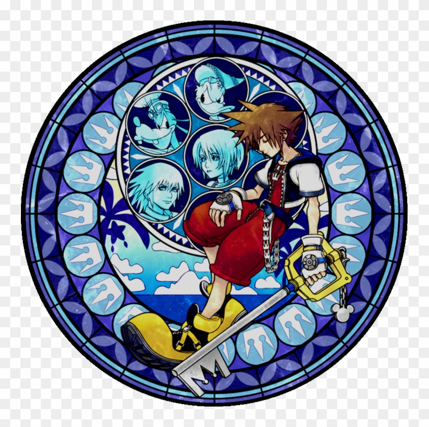 *warning* Mass Effect 3 Spoilers Inside - Kingdom Hearts Stained Glass Sora, HD Png Download #4545887