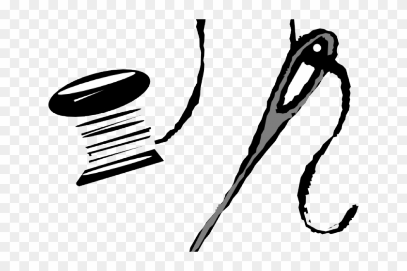 Needle And Thread Clip Art - Png Download #4546047