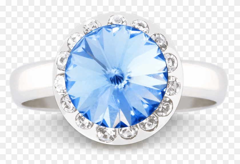 Halo Ring 1200 Light Sapphire Copy - Pre-engagement Ring Clipart #4548018