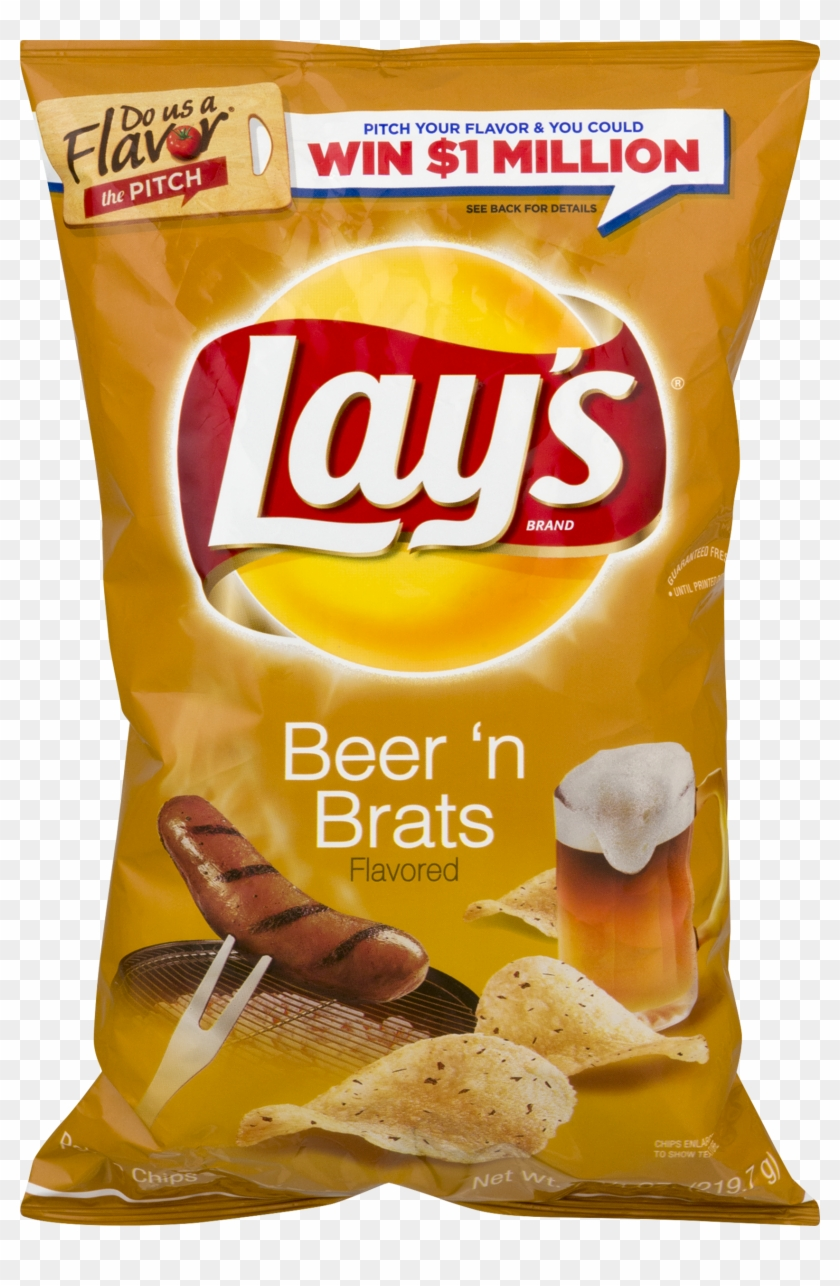 Lay's Beer 'n Brats Potato Chips, - Lays Chips Bbq Ribs Clipart #4554255