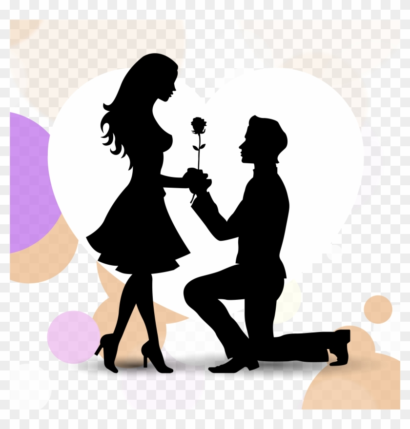 Wedding Cake Clipart Merriage - Love Propose Vector Png Transparent Png #4554287