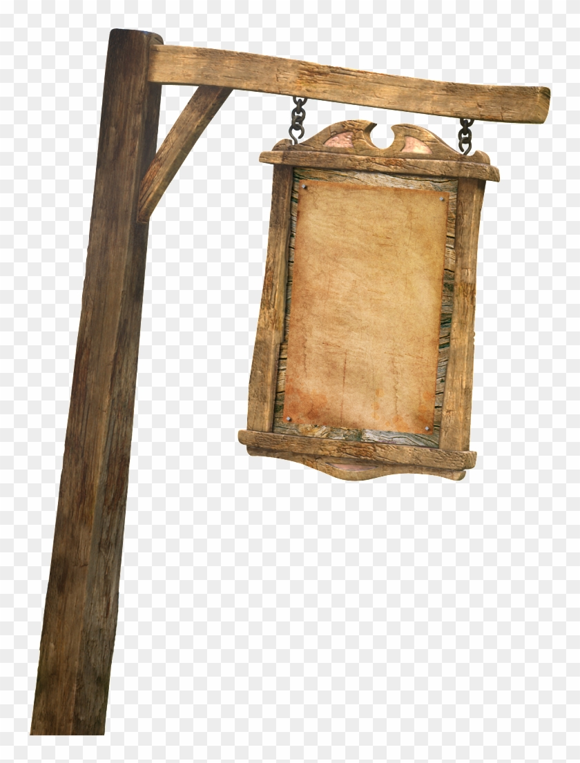 Wooden Sign Post Png Clipart #4557669