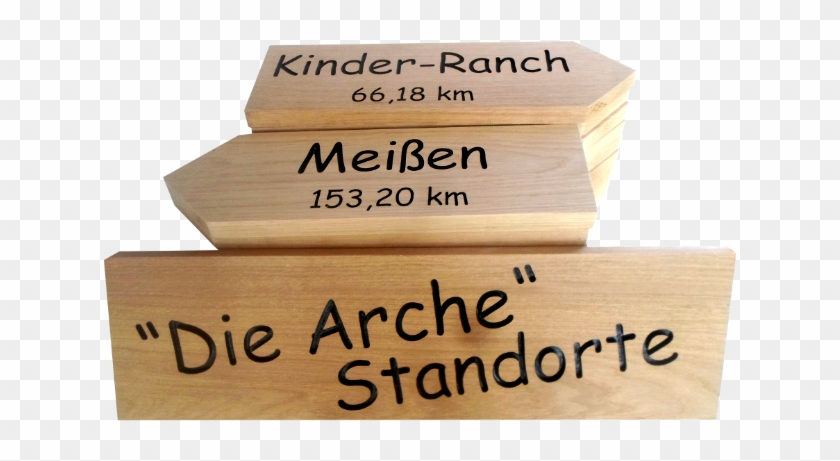 Oak Finger Signpost With Directional Arrows To The - Plank, HD Png Download #4557814